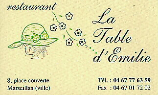 awesome pictures of la table d emilie marseillan menu - table